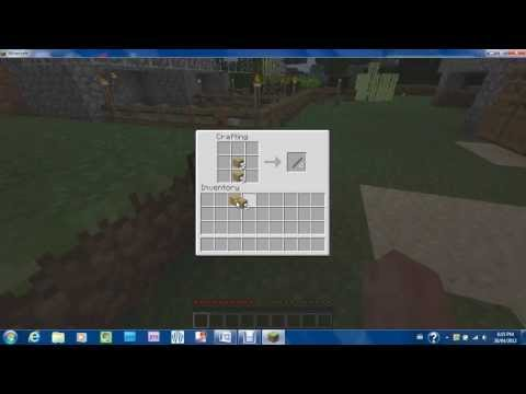 Minecraft tutorial-How to make tools (pickaxe. axe. shovel. sword)