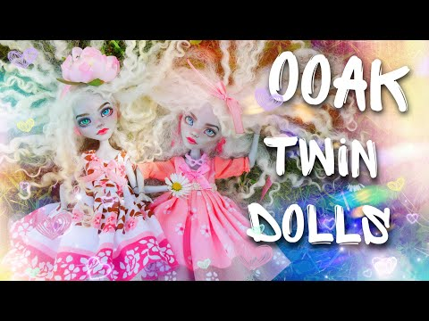 DIY OOAK TWIN Sisters How to make OOAK CUSTOM Repaint MONSTER HIGH