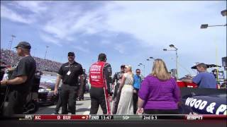 Tony Stewart grabs DeLana Harvick's butt (9-16-2012)