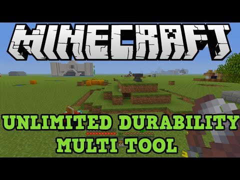 Minecraft Xbox One PS4: Multi Tool With Unlimited Durability Glitch Tutorial