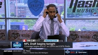 Stephen A. Smith reacts to 2019 NFL Draft begins tonight   Stephen A. Smith Show 4/25/19