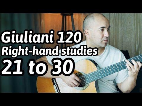 Джулиани Мауро - 120 Right-hand Studies Studio Per La Chitarra
