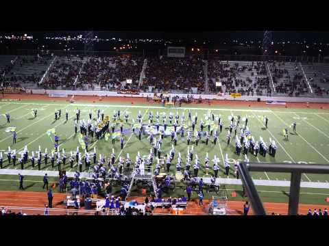 Weslaco High School Marching Band halftime show 09/05/14