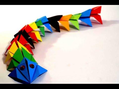 Оригами Дракон. Поделки из бумаги для детей. Оригами для начинающих. - VplayHQ.com