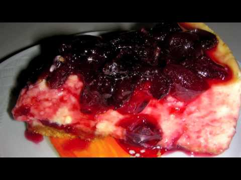 Cherry Cheese Cake Recipe with Fresh Cherries From Scratch