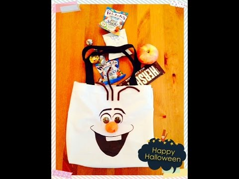 DIY Frozen Olaf kid's tote bag (No Sew)- 動手做冰雪奇緣 雪寶 ...