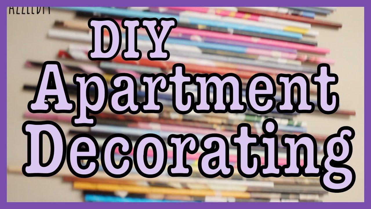 DIY apartment decorating  YouTube
