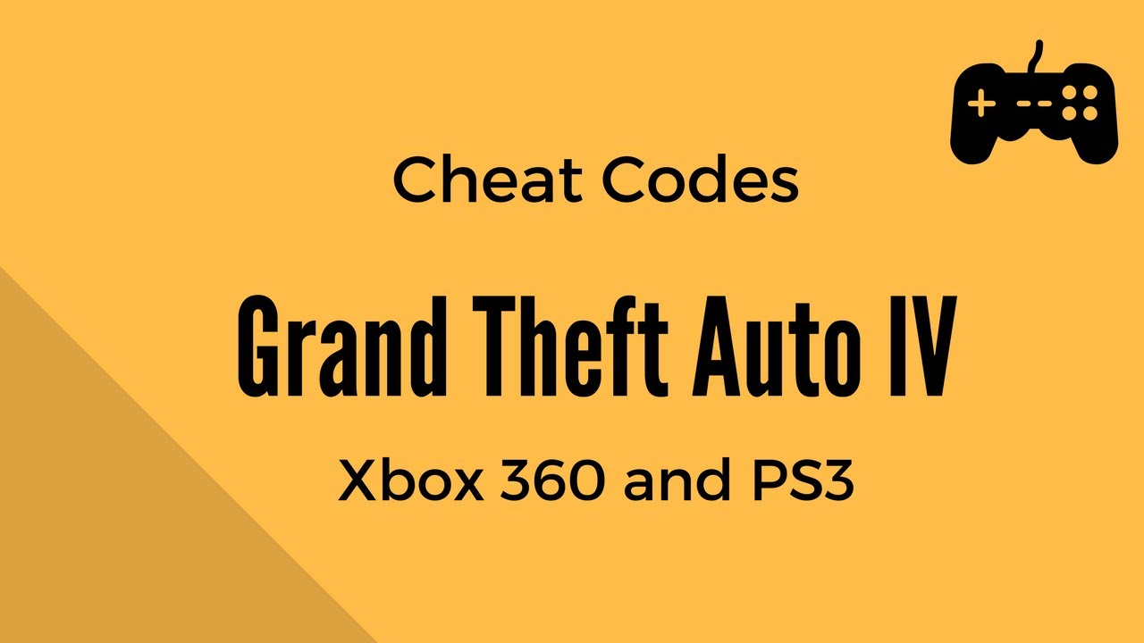 iv Gta 4 All Cheat Codes