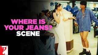 Scene Dil To Pagal Hai  Where Is Your Jeans  Shah Rukh Khan  Madhuri Dixit  Karisma Kapoor