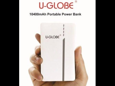 U-GLOBE UG957B Power Bank 10400 mAh unboxing
