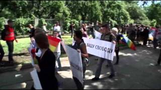 Raw: Gay Rights Activists March in Ukraine