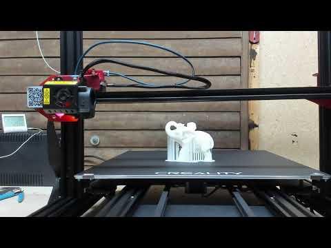 Első nyomtatás a CR-10 Max-al (Elefánt)