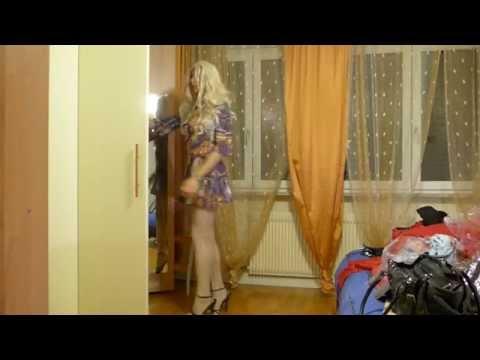 Misscorinnetrav, Transvestite With Her New Dress