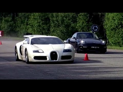 Bugatti Veyron vs Porsche 911 Turbo Switzer R750 Music Videos