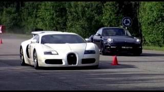 Bugatti Veyron vs Porsche 911 Turbo Switzer R750