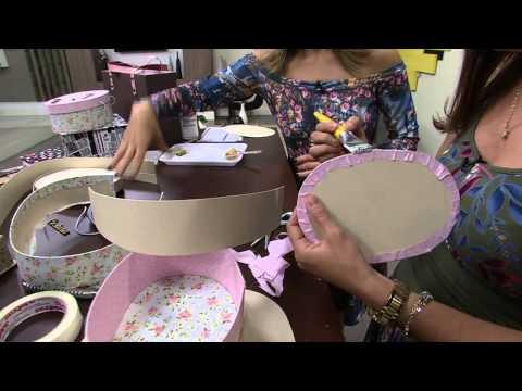 Mulher.com 01/07/2014 - Maleta Oval Cartonagem por Ana Paula Viegas - Parte 1