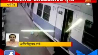 Mumbai CCTV Footage of Local hit Buffer end at Churchgate 28th June 2015