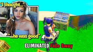 #1 GIRL PRO *DESTROYS* FaZe Sway in ZONE WARS! (Fortnite)