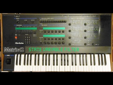 Programming State Variable Filter Behavior on the Oberheim Matrix-12 and Xpander