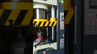 single action hydraulic press with robot