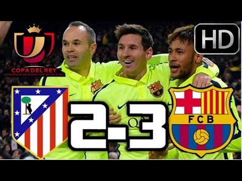 Atlético de Madrid 2-3 Barcelona| RESUMEN COMPLETO Y GOLES HD| COPA DEL REY| 28-01-2015