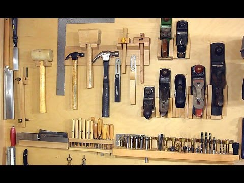 Not a french cleat system for organizing hand tools