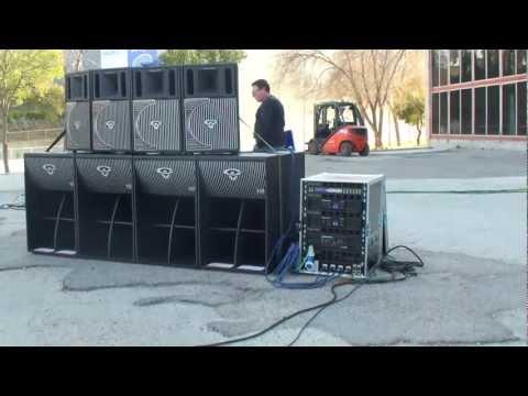 Afial Demostracion de sonido array Cerwin Vega