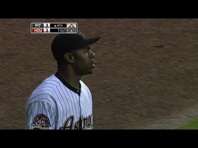 Bourn makes a running catch in center