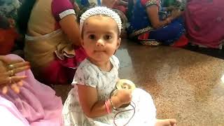 Cute baby enjoying Navratri Kirtan || by my cute munchkin