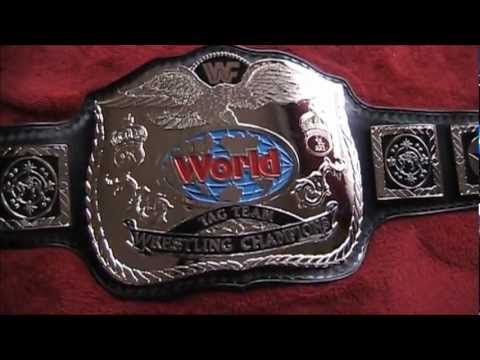 Real British Bulldog Style WWF Tag Team Championship Wrestling Title Belt Reggie Parks