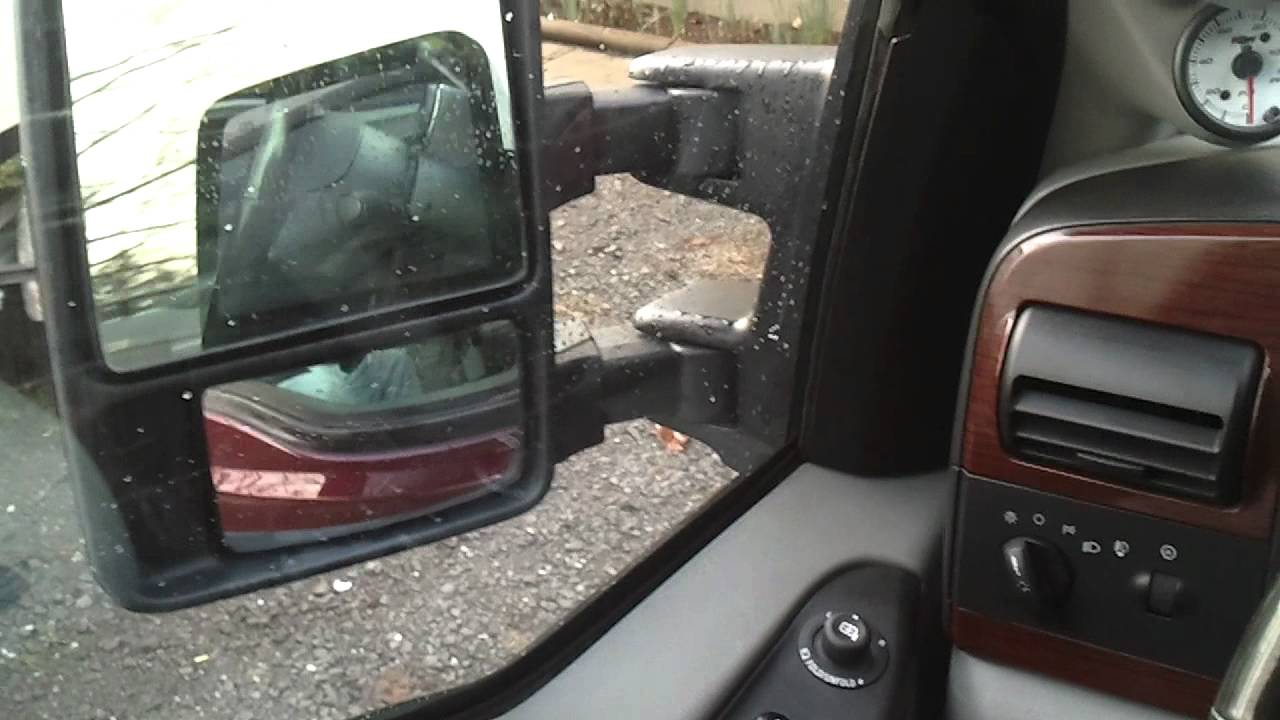 2005 Ford F350 W 2011 Power Folding Mirrors Youtube