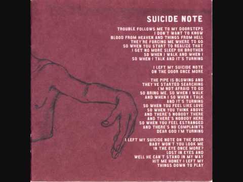 Disagree - Suicide Note