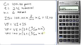 Formula de Interes Simple Calculadora HP