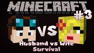Minecraft | Husband VS Wife SURVIVAL | Episode 3 | Dungeons & Wolves