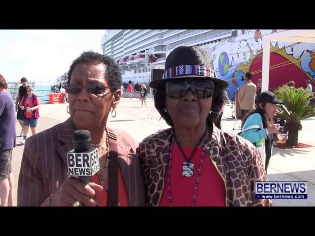 Bermudian Passengers On Norwegian Breakaway Arrival, May 15 2013