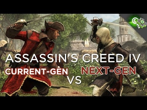 Assassin's Creed 4: Next Gen Vs Current Gen Gameplay Comparison (PS4 vs 360)