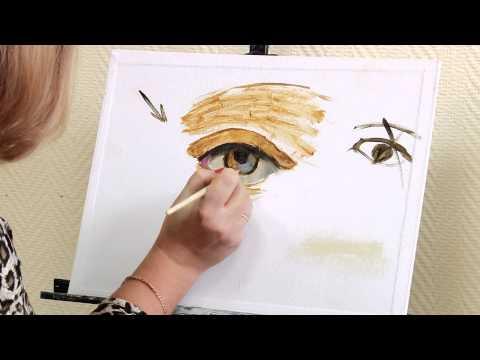 Мастер-класс портрет красками