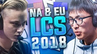 50 Best Plays & Outplays of NA & EU LCS 2018 Compilation