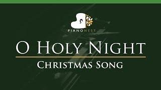 O Holy Night In D Christmas Song Piano Karaoke Sing Along
