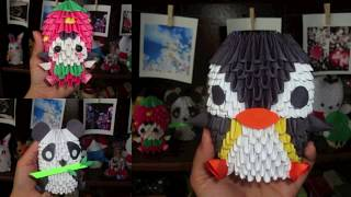 My 3d Origami Creations (hello Kitty, Domo, Anime Characters, And More!)