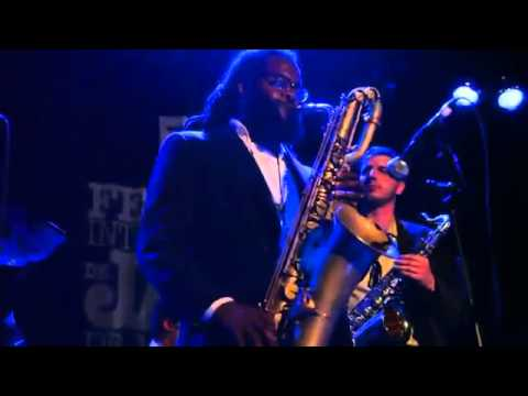 Jason Marshall plays Baritone Sax at Cherokee Montreal Jazz Fes