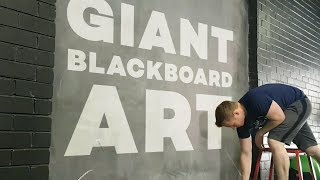 Making Art on a GIANT Chalkboard!
