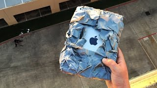 Can Duct Tape Protect iPad Air from 100 FT Extreme Drop Test? - GizmoSlip
