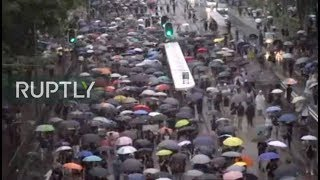 LIVE: Protesters march across Hong Kong