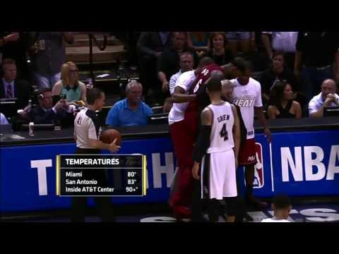 NBA Top Finals Moments: Lebron James Cramps Up | NBA Finals 2014