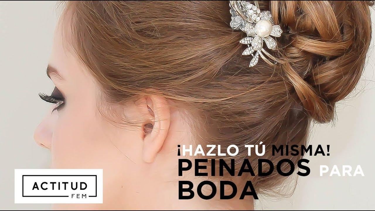Como peinarse para una boda 4 peinados sencillos para - Peinados elegantes para una boda ...