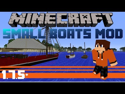 (1.6.4+) Minecraft Mod Review - SMALL BOATS MOD + DOWNLOAD LINK