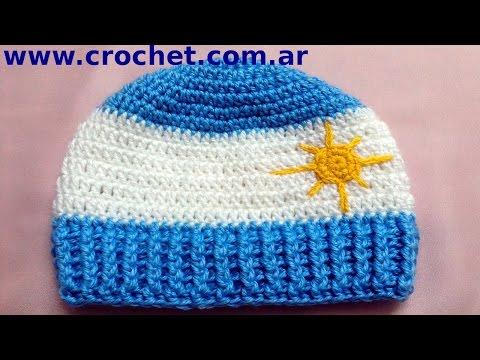 Gorro Argentino en tejido crochet tutorial paso a paso.