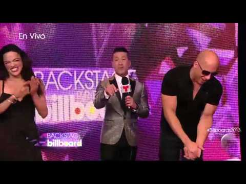 Vin Diesel y Michelle Rodriguez backstage interview in B 2013