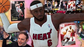 NBA 2K19 My Team PINK DIAMOND LEBRON JAMES DEBUT! PINK DIAMOND SCOTTIE PIPPEN TOO!!!
